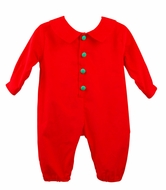 Funtasia Too Baby Boys Red Corduroy Christmas Romper