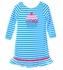 Funtasia Too Baby Girls Turquoise / White Striped Knit Birthday Cupcake Dress