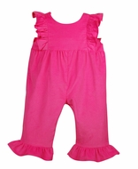Funtasia Color Works Baby / Toddler Girls Corduroy Ruffle Romper - Hot Pink