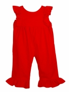 Funtasia Color Works Baby / Toddler Girls Corduroy Ruffle Romper - Red