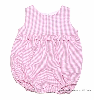 Funtasia Color Works Baby / Toddler Girls Seersucker Ruffle Bubble - Pink Gingham