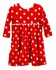 Funtasia Too Girls Red / White Dots Tiered Knit Dress