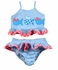 Funtasia Too Girls Turquoise Check Seersucker Swimsuit with Fish - Two Piece