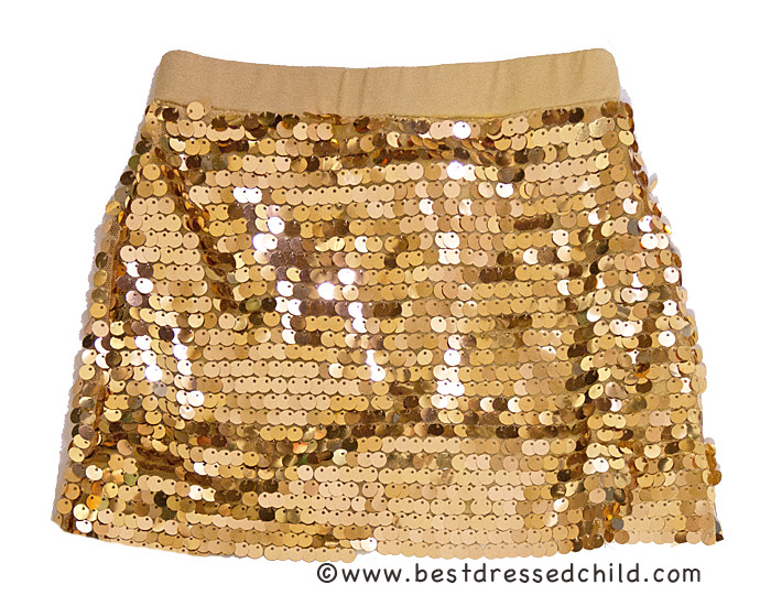Haven Girl Sequined Mini Skirt in Holiday Gold