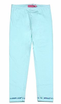 Haven Girl Leggings with Sequin Trim - Aqua Sea Glass