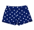 Haven Girl Patriotic Milly Shorts - Cobalt Blue with White Stars - Pockets