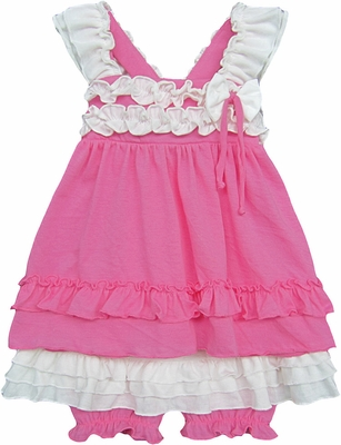 Isobella & Chloe Baby / Toddler Girls Stephanie Bloomers Set - Hot Pink