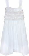 Isobella & Chloe Girls Cream & Sugar Ivory Empire Waist Dress