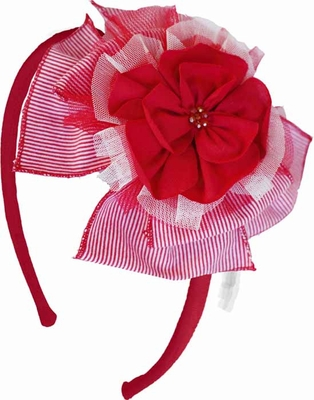 Isobella & Chloe Girls Red Cherry Pie Flower Headband