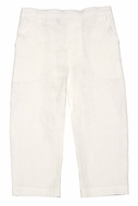 Jack and Teddy Boys Linen Dress Trouser Slacks Pants - Ivory