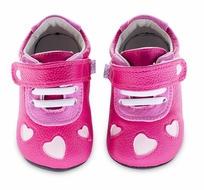 Jack & Lily Baby / Toddler Girls Shoes - Ellie Heart Cut Out - Fuchsia Pink