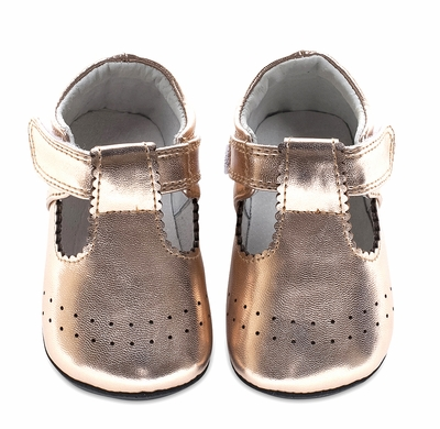 0b500df3f82 Jack   Lily Baby   Toddler Girls Shoes - Guida Scallop T-Strap - Rose Gold