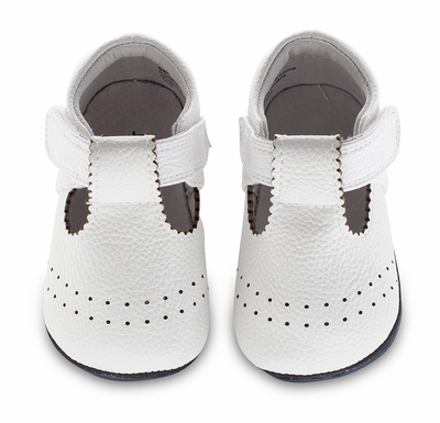 Jack & Lily Baby / Toddler Girls Shoes - Paisley Scallop T-Strap - White