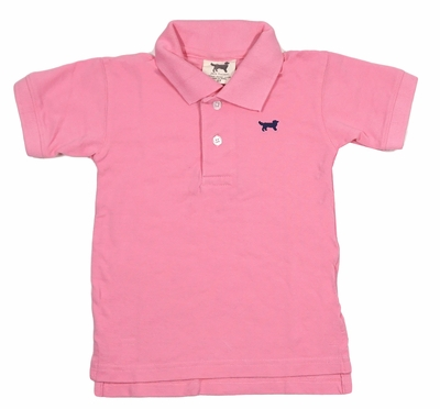 Jack Thomas Boys Classic Pique Polo Shirt - Passion Pink