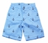 Jack Thomas Boys Sky Blue Shorts with Embroidered Anchors