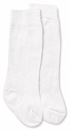 Jefferies Socks Boys & Girls Dress Knee High Socks - Nylon - White