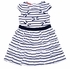 Kate Mack Girls Navy Blue / White Striped Seaside Petals Nautical Dress