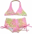 Kate Mack Girls Palm Beach Print Boyleg Two Piece Swimsuit