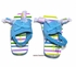 Kate Mack Girls Pastel Stripes / Aqua Blue Pool / Beach Shoes - Salt Water Taffy Candies
