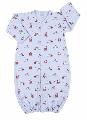 Kissy Kissy Baby Boys Blue Burly Bulldogs Print Converter Gown