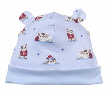 Kissy Kissy Baby Boys Blue Burly Bulldogs Print Hat