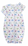 Kissy Kissy Baby Boys Blue Downtown Dinosaurs Print Converter Gown
