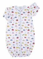 Kissy Kissy Baby Boys Blue / Red Rush Hour Cars Print Converter Gown