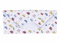 Kissy Kissy Baby Boys Blue / Red Rush Hour Cars Print Receiving Blanket