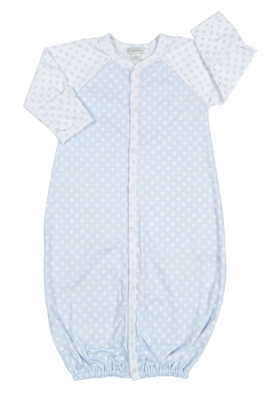 Kissy Kissy Baby Boys Blue / White Delectable Dots Converter Gown