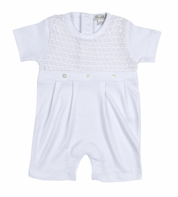 Kissy Kissy Baby Boys Breathless Dressy Romper Playsuit - White
