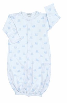 Kissy Kissy Baby Boys Cottontail Bunnies Convertible Gown - Blue