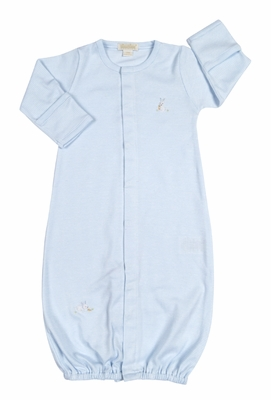 Kissy Kissy Baby Boys Cottontails Bunny Striped Converter Gown - Blue