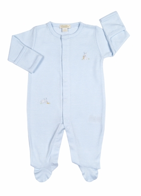 Kissy Kissy Baby Boys Cottontails Bunny Striped Footie - Blue
