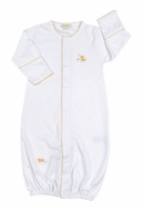 Kissy Kissy Baby Boys / Girls Ducky Duo Convertible Gown - White