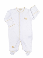 Kissy Kissy Baby Boys / Girls Ducky Duo Footie - White