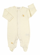 Kissy Kissy Baby Boys / Girls Ducky Duo Footie - Yellow Stripes
