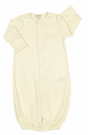 Kissy Kissy Baby Boys / Girls Organic Ecru Converter Gown - Teddy Bears
