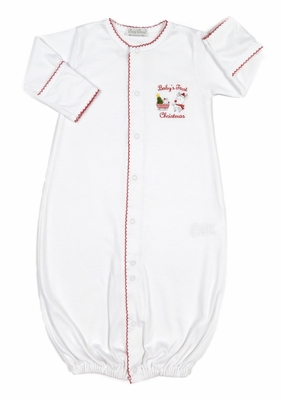 Kissy Kissy Baby Boys / Girls White First Christmas Converter Gown
