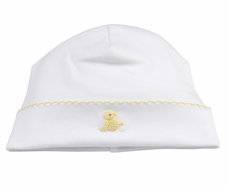 Kissy Kissy Baby Boys / Girls Yellow Chick on White Hat