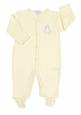 Kissy Kissy Baby Boys / Girls Yellow Striped Giraffe Generations Footie