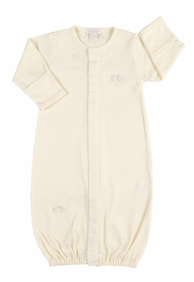 Kissy Kissy Baby Boys / Girls Yellow Stripe Chicks Converter Gown