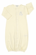 Kissy Kissy Baby Boys / Girls Yellow Striped Giraffe Generations Converter Gown