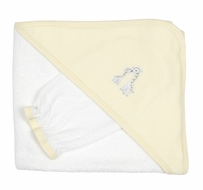 Kissy Kissy Baby Boys / Girls Yellow Striped Giraffe Hooded Towel & Wash Mitt Gift Set