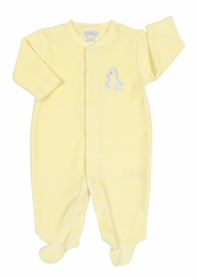 Kissy Kissy Baby Boys / Girls Yellow Velour Giraffe Generations Footie
