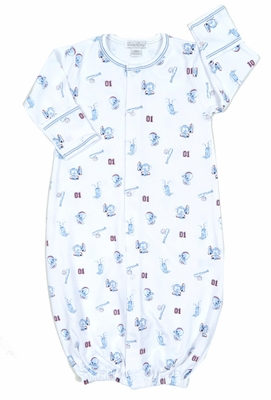 Kissy Baby Boys Good Sport Print Convertible Gown