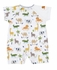 Kissy Kissy Baby Boys Green / Orange Jungle Jaunt Animals Print Playsuit