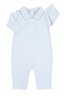 Kissy Kissy Baby Boys Honey Bear Cub Playsuit with Collar - Light Blue