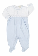 Kissy Kissy Baby Boys Light Blue Smocked Timeless Footie