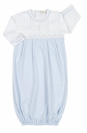 Kissy Kissy Baby Boys Light Blue Smocked Timeless Sack Gown