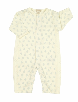 Kissy Kissy Baby Boys Organic Ecru Playsuit - Blue Bears